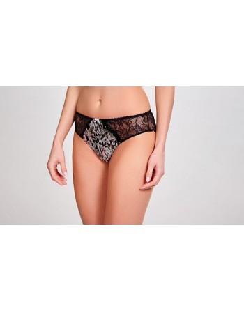 panache lingerie jasmine brazillian slip animal black