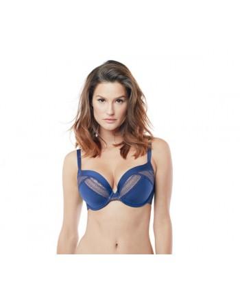 panache lingerie aria voorgevormde plunge beha navy/nude