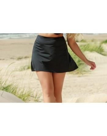 plaisir badmode solid color strand rokje t0038 zwart 56
