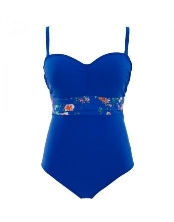Panache Swim Florentine badpak cobalt floral