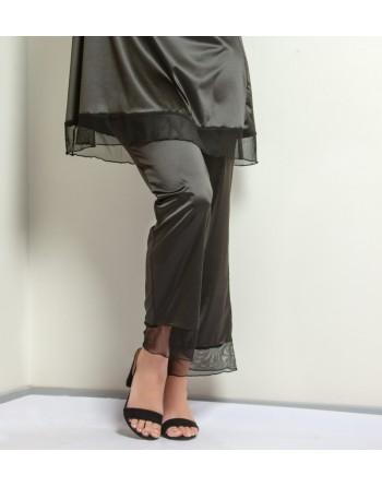 plaisir boudoir nighty pyama broek 42-56 zwart
