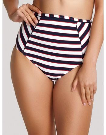 panache swim lucille bikini slip hoge taille navy stripe 34-46