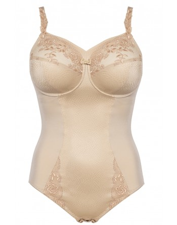 ulla dessous ella shapewear body grote cupmaten h-i / t. 75-100 bisque