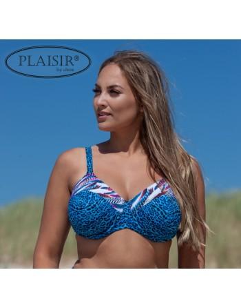 plaisir badmode remix voorgevormde bikini beha grote maten 90-100 / cup c-g blue