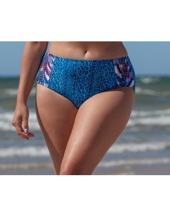 plaisir badmode remix bikini slip hoge taille 44-50 blue