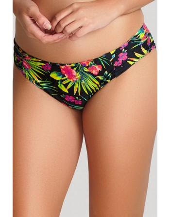 panache swim anya print bikini slip 38 black palm