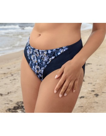 plaisir badmode vintage garden bikini slip navy blue