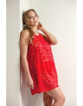 plaisir holly nighty grote maten 42-56 rood + bijpassende brazillian slip