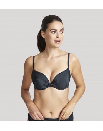 panache swim marina voorgevormde twist bikini beha grote cupmaten d-k / t. 65-85 graphite