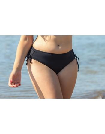 plaisir badmode solid color tai bikini slip 40-54 zwart