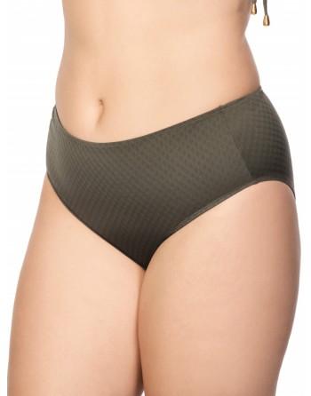ulla dessous saint-tropez bikini slip hoge taille 36-56 olive